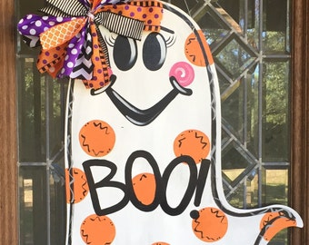 Ghost door hanger Halloween door hanger Halloween decor