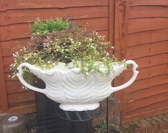 Vintage Vase / Large Urn with Handles / Arthur Wood / Milan Bowl / Flower arrangement / Office / Flower Display / Vintage urn / 1950 / Vase