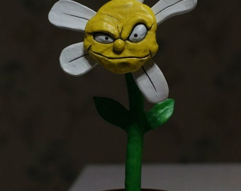 "Statuette of ceramics ""cynical daisy"""