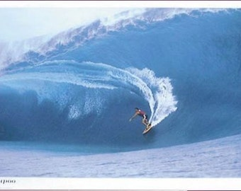 Teahupoo Surf Poster - Amazing Hawaii Surfing Waves - Rare Hot New 24X36