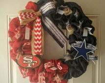 Unique 49ers wreath related items | Etsy