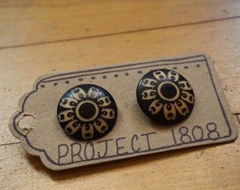 Oversized Wood Stud Earrings