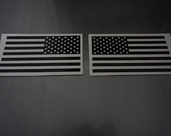 Jeep Wrangler military black american flag reversed set charging
