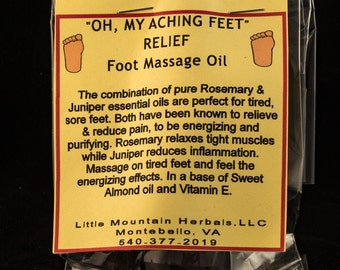 Oh, My Aching Feet Relief Foot Massage Oil