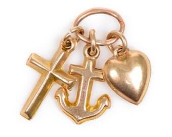Faith Hope and Charity Pendant/Charm