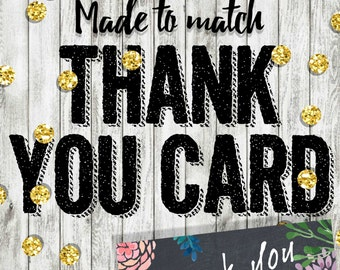 Matching Thank You Card, Add On, Thank You Card