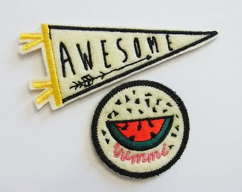 2 set patches-patches AWESOME & water melon