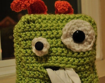Crochet Tissue Box Cover Kids Tissue Box Cover Monster Tissue Box Cover Fun Tissue Box Cover