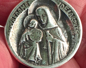 Sterling Button Our Lady of the Road