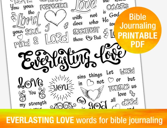 everlasting love printable templates for bible journaling