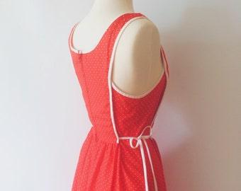 Red Polka Dot Smock Dress