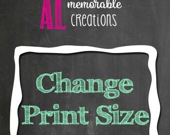 Change Print Size of Existing Item in Shop/Digital Printable File