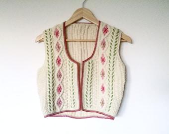 Vintage handmade wool vest