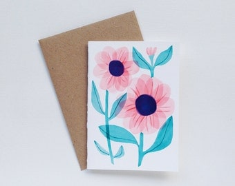 Flower Small Greeting Card