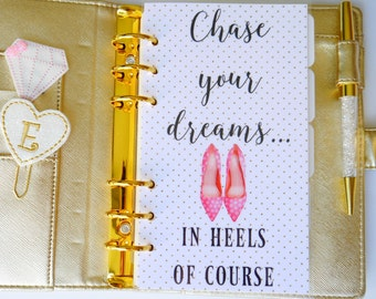Chase Your Dreams Personal, A5 & Pocket Size Planner Dashboard