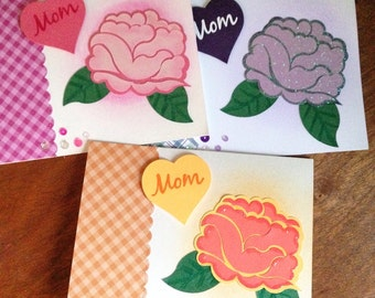 Rose for Mom card