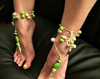 """Barefoot sandals """"Spooky Nature"""""""