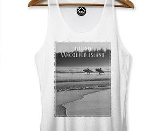 Tofino Vancouver Island Vest Surf Men Singlet Sleeveless Tank Famous Surfing PP113