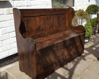 Monks bench storage settle