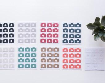 24x Camera Stickers