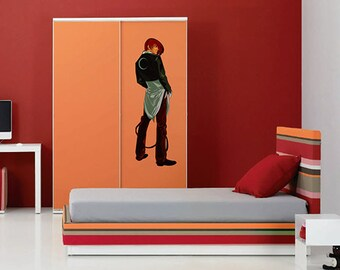 kcik502 Full Color Wall decal Japanese anime cartoon character living room bedroom