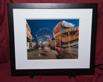 Summer in Coney Island-Framed Photo