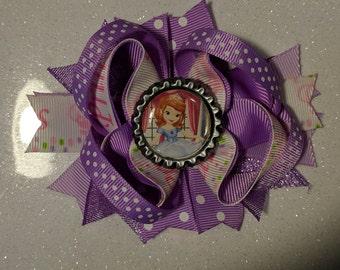 Princess bow, Princess Sofia bow, Disney Princess bow, Sofia bow