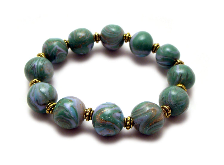 clay bead bracelet polymer bracelet meditation by