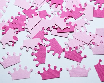 Princess Crown Confetti, Princess Party Decorations, Pink Party Decorations, First Birthday Decorations, Girl Baby Shower Decorations