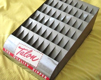 Vintage Metal Talon Zipper Advertising Display Rack