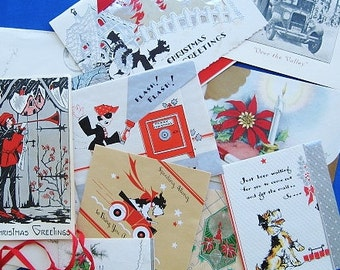 SALE: Lot of 12 1935 Christmas Cards with Envelopes & Stamps