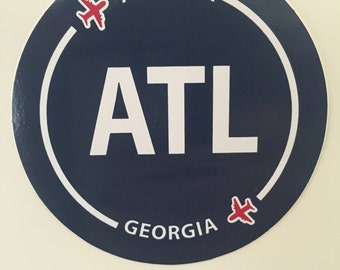 Atlanta ATL Georgia Souvenir Airport Sticker