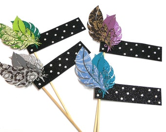 Photo Booth Props -  4PC Roaring 1920s Flapper Headbands Photo Booth Props