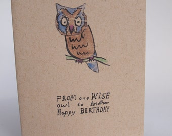 Greeting Card - Wise owl