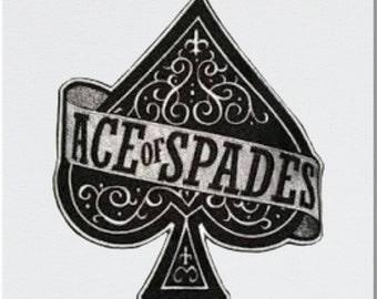 Ace of Spades Mug and Coaster Printed