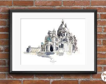 "Printable Art "" Sacre Coeur - Paris ""  Travel Wall Art 