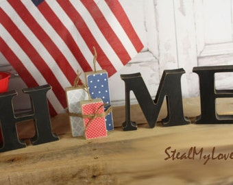 "Firecrackers: DIY Unfinished Fourth of July Letter Decoration ""O"" Insert ONLY - Craft for ""Home"", ""Love"" and ""Welcome"" Letter Set"