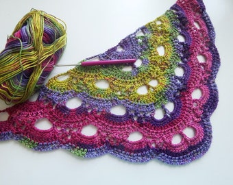 INSTANT DOWLOAD Virus/Shell Shawl and blanket crochet pattern. 2 patterns for the price of 1!!