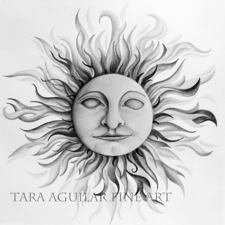 sun face drawing sun face art black and white drawing sun