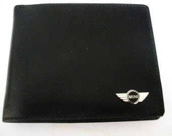 Mini Cooper Men's Black Leather Bifold Wallet