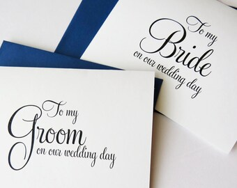 To my Bride on our Wedding Day, To my Groom on Our Wedding Day, Groom Gift, Bridal Card from Husband to Wife, Day of Gift, WFS02
