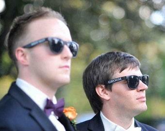 Printed Wayfarer Sunglasses (Groom, Best Man & Groomsman)