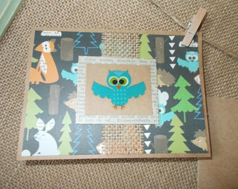 Woodland Creatures- owl- greeting cards