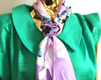 Pastel thin scarf, summer scarf, headscarf, pastel headscarf, vintage scarf, vintage headscard
