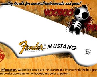 Fender Mustang Headstock Waterslide Decals