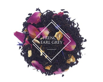 French Earl Grey tea, Loose Leaf Tea, Black Tea