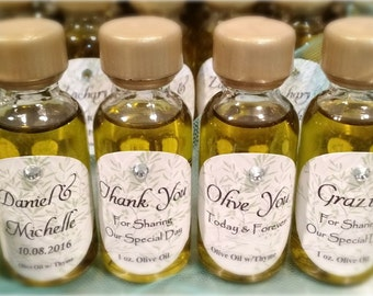 50 mini Olive Oil infused w/thyme Wedding Favors