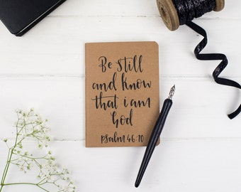 Be Still Christian Prayer Journal, Kraft Journal, Bible Journal, Gift for her, Gift for him - Eco Friendly