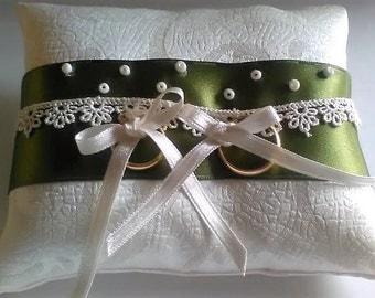 Fancy Satin wedding Ring Pillow