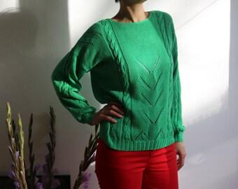 Green emerald vintage sweater